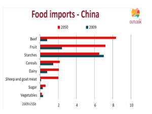 ABARES China food chart